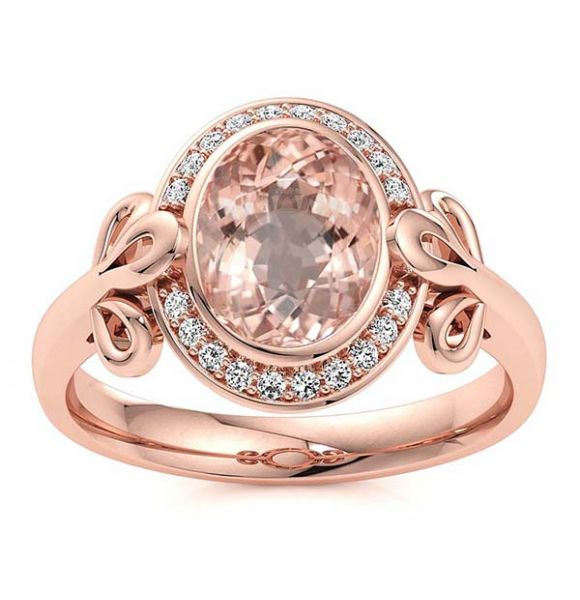 Abi Morganite Ring