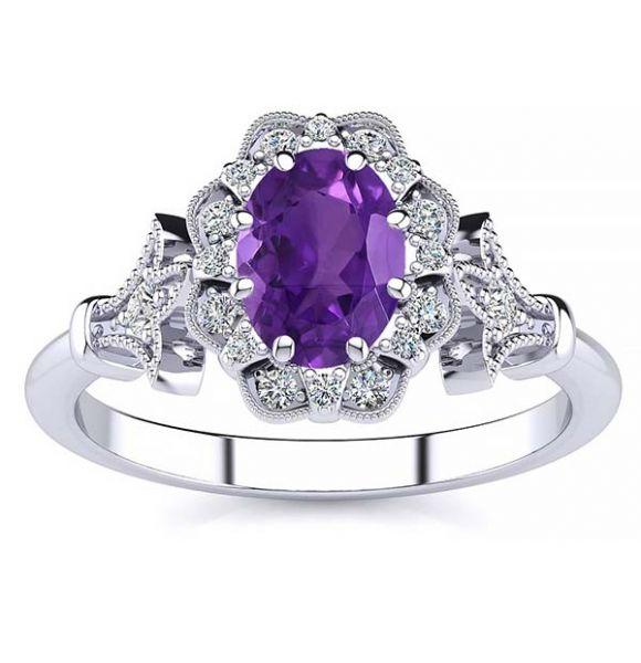 Stephanie Amethyst Ring