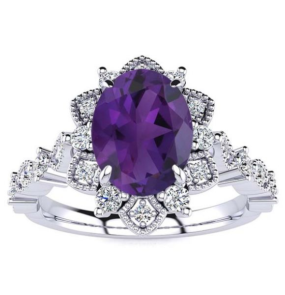 Brenda Amethyst Ring