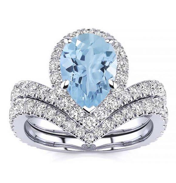 Anna Aquamarine  Ring