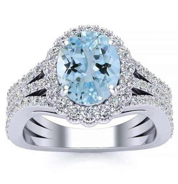 Marissa Aquamarine Ring