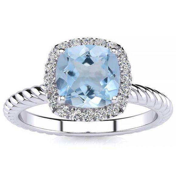 Alyssa Aquamarine Ring