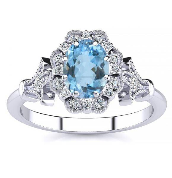 Stephanie Aquamarine Ring