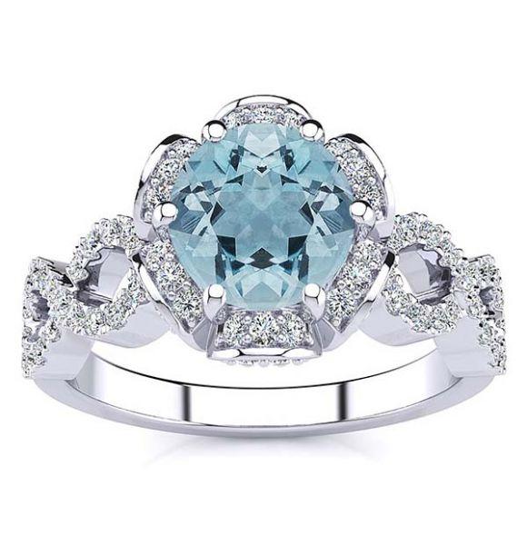 Katie Aquamarine Ring