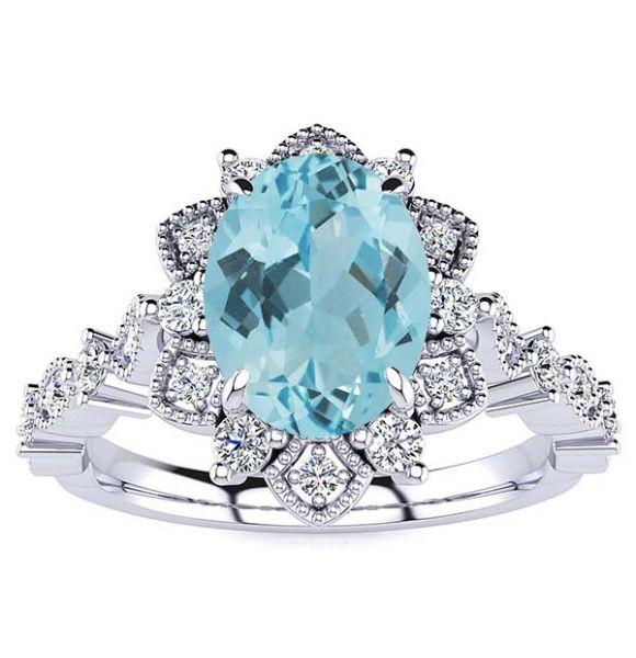 Brenda Aquamarine Ring