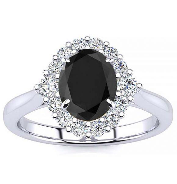 Debora Black Diamond Ring