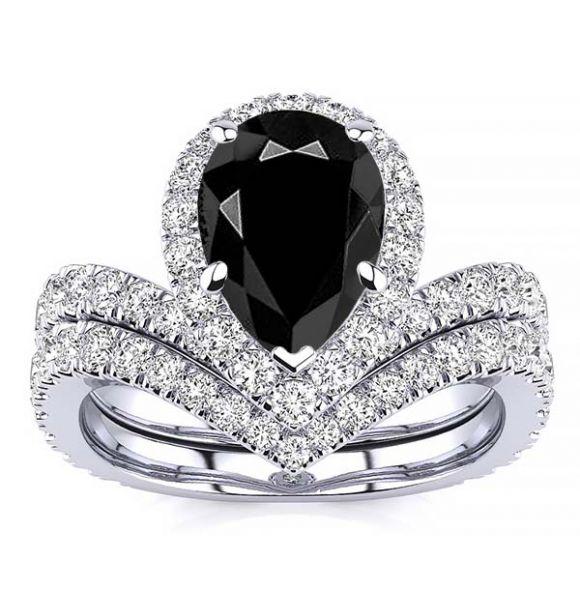 Anna Black Diamond Ring