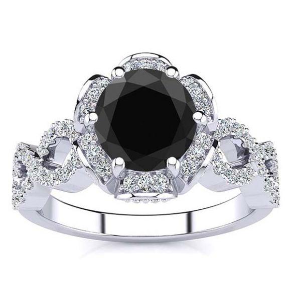 Katie Black Diamond Ring