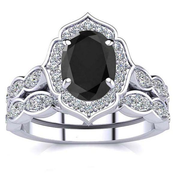 Madelyn Black Diamond Set