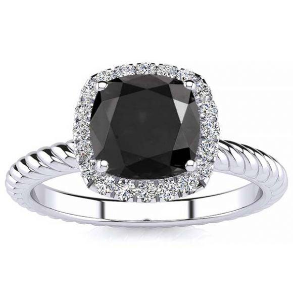 Alyssa Black Diamond Ring