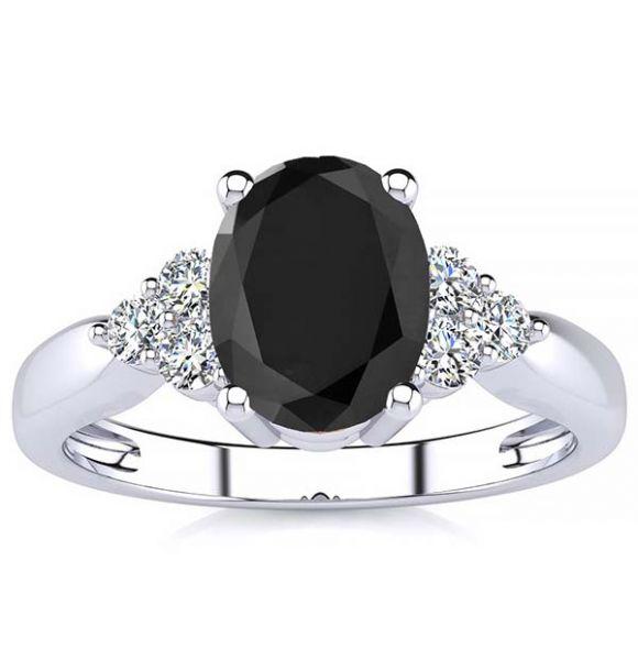 Selena Black Diamond Ring