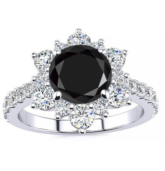 Snowflake Black Diamond Ring