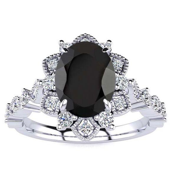Brenda Black Diamond Ring