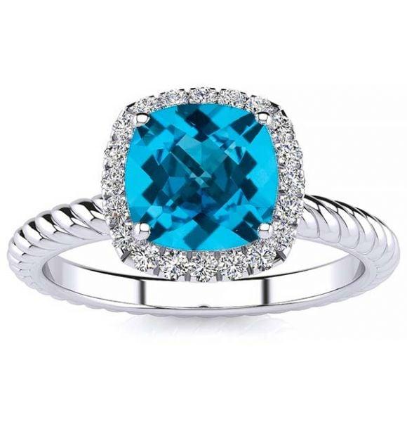 Alyssa Blue Topaz Ring