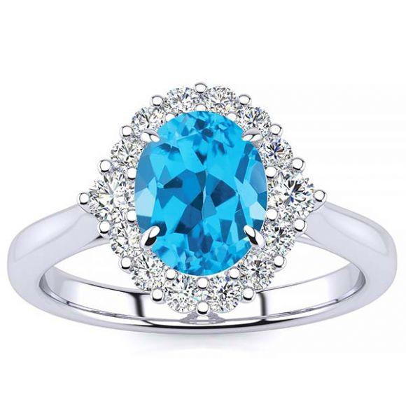 Debora Blue Topaz Ring