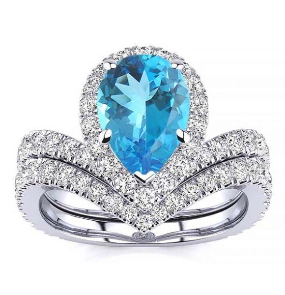 Anna Blue Topaz Ring