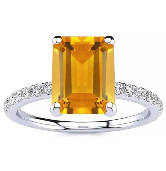 Yana Citrine Ring