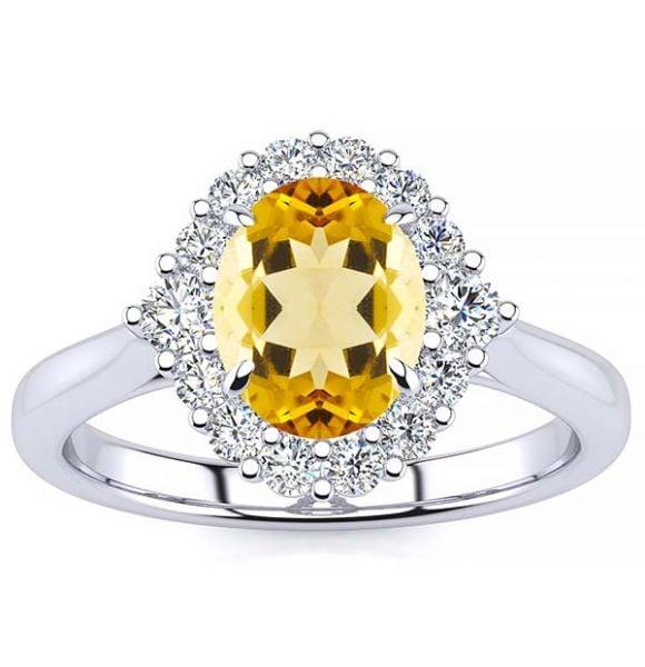 Debora Yellow Citrine Ring
