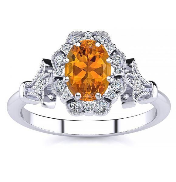 Stephanie Citrine Ring