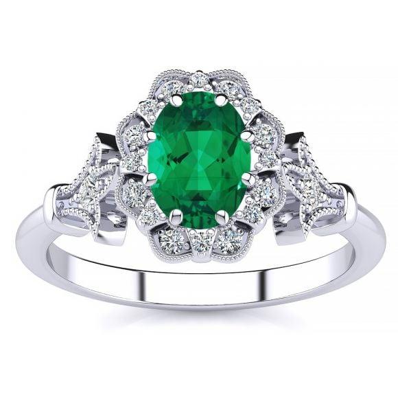 Stephanie Emerald Ring