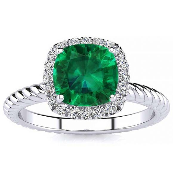 Alyssa Emerald Ring