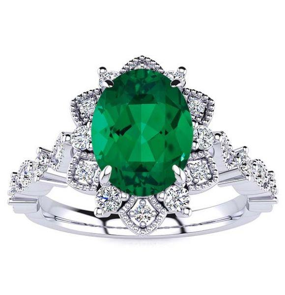 Brenda Emerald Ring