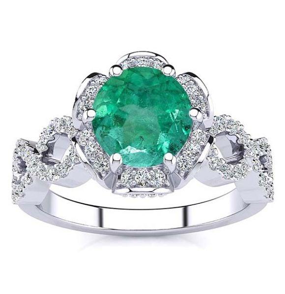 Katie Emerald Ring