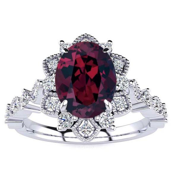 Brenda Garnet Ring