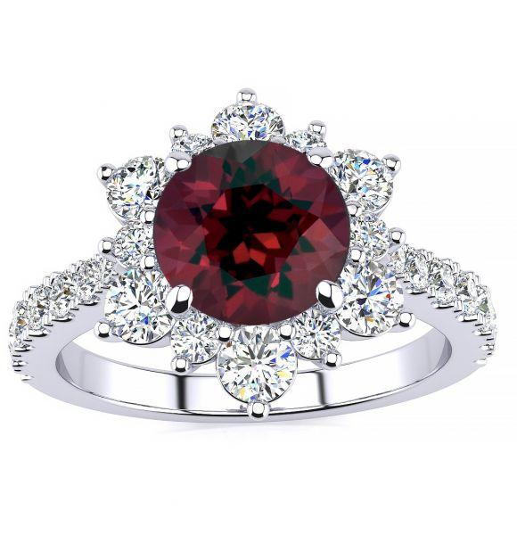 Snowflake Garnet Ring