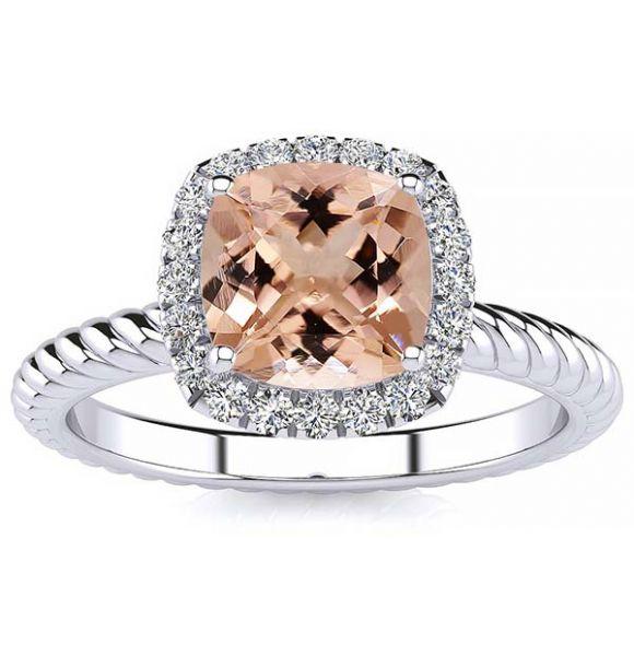 Alyssa Morganite Ring
