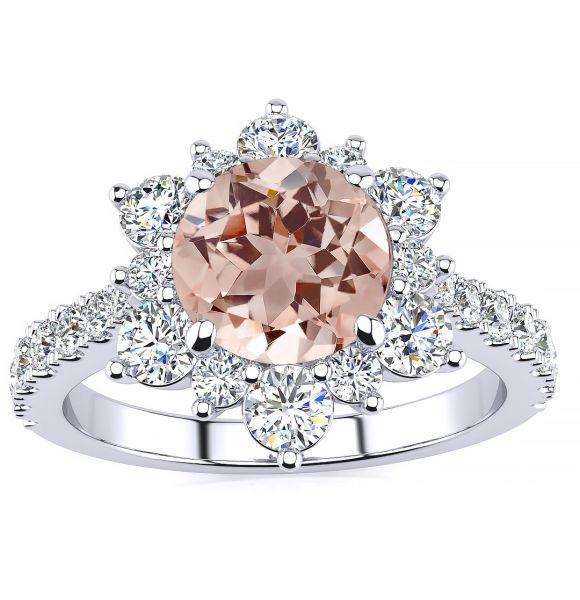 Snowflake Morganite Ring