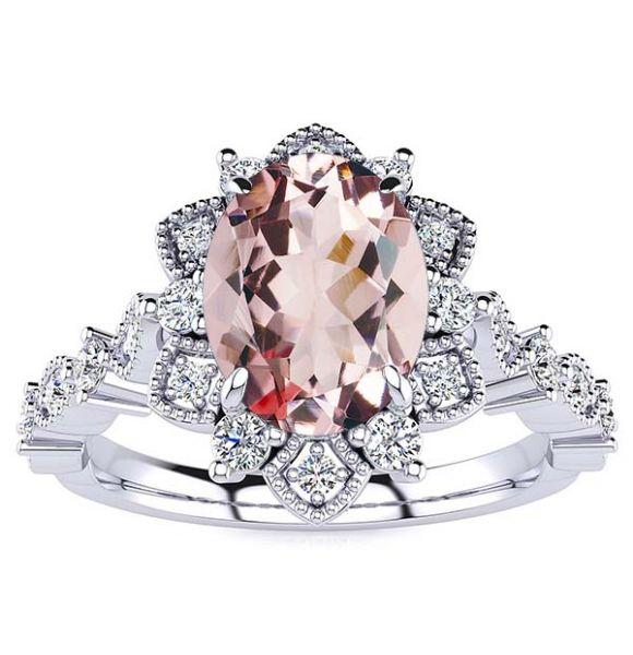 Brenda Morganite Ring
