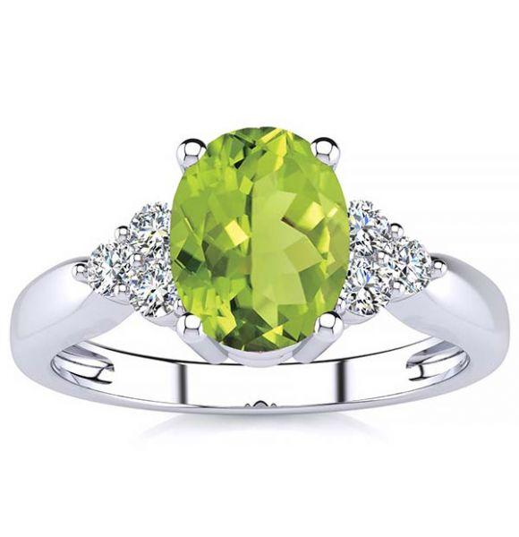 Selena Peridot Ring