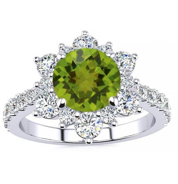 Snowflake Peridot Ring