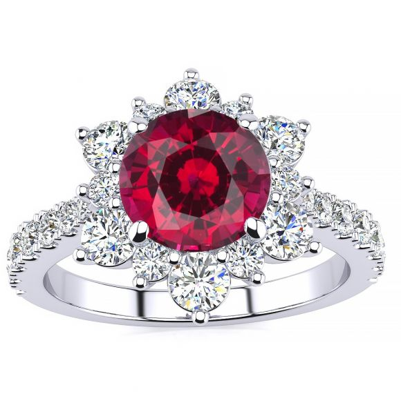 Snowflake Ruby Ring