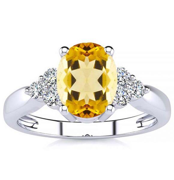 Selena Yellow Citrine Ring