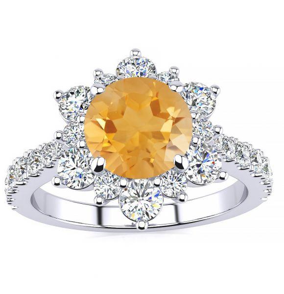 Snowflake Citrine Ring