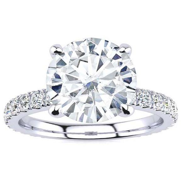 Mackenzie Moissanite Ring