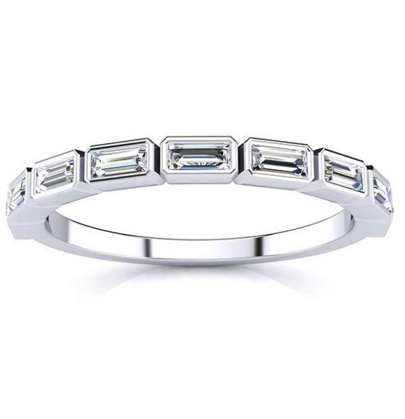 Megan Baguette Diamond Ring
