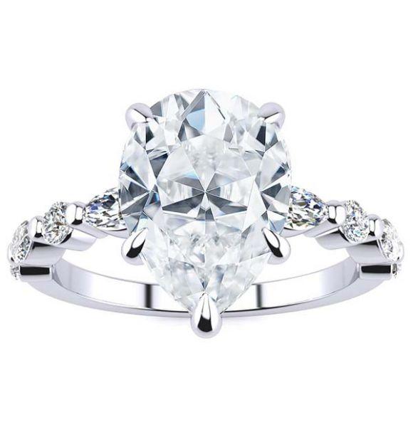 Leah Moissanite Ring