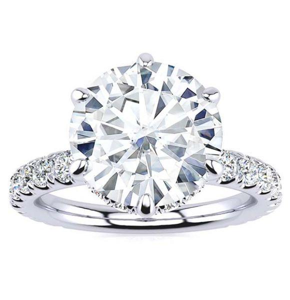 Krystal Moissanite Ring
