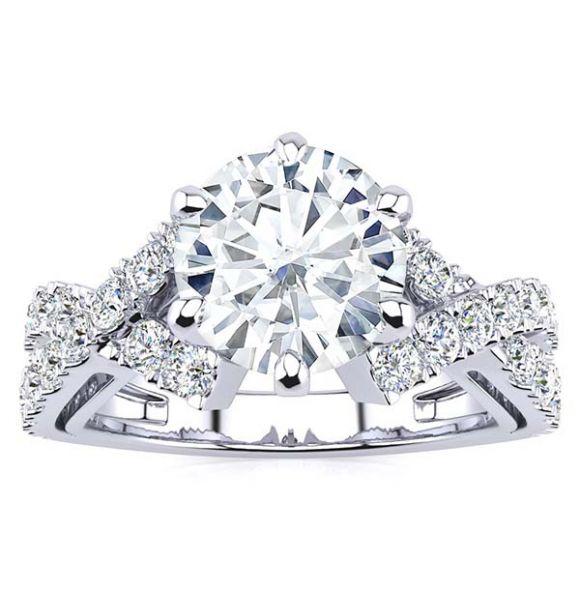 Faith Moissanite Ring