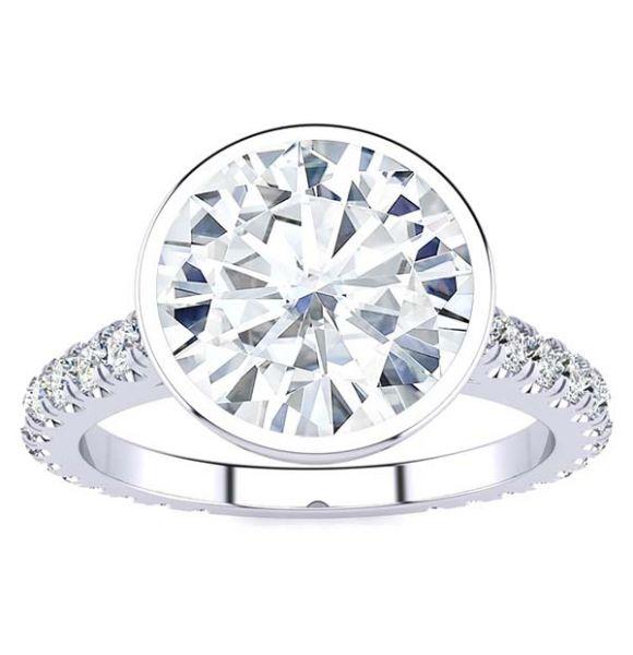 Jade Moissanite Ring