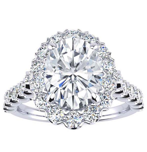 Cynthia Oval Moissanite Ring