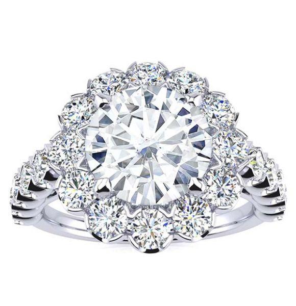 Harper Moissanite Ring