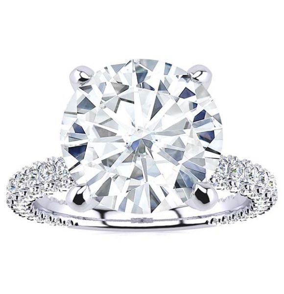 Monica Moissanite Ring