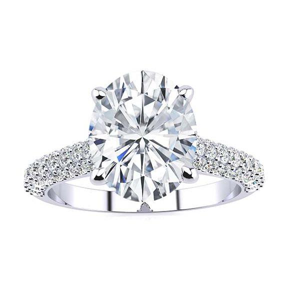Lila Moissanite Ring