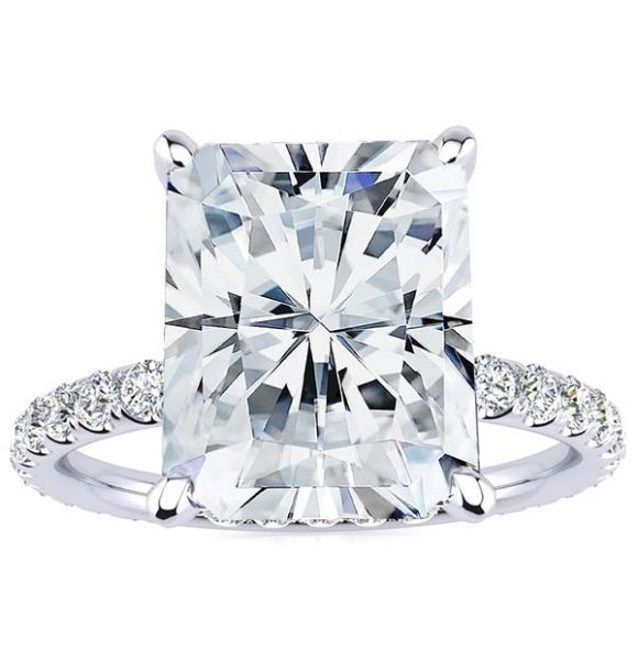 Crystal 3.90ct Moissanite Ring