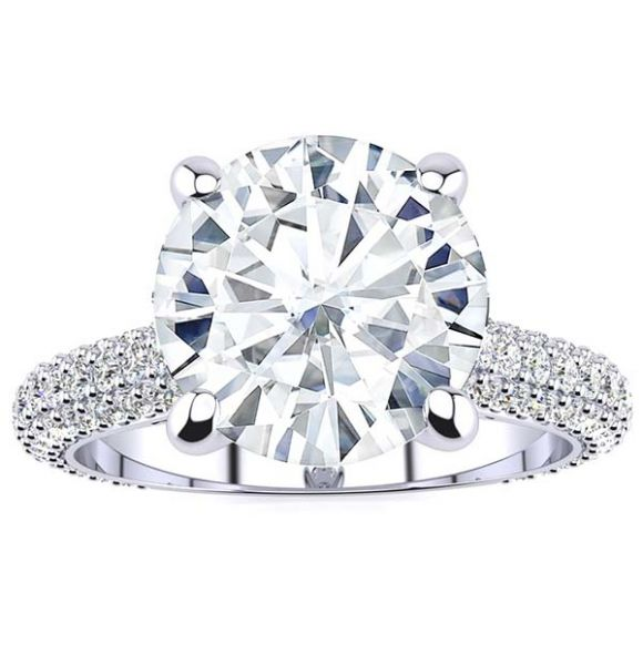 Alicia Moissanite Ring