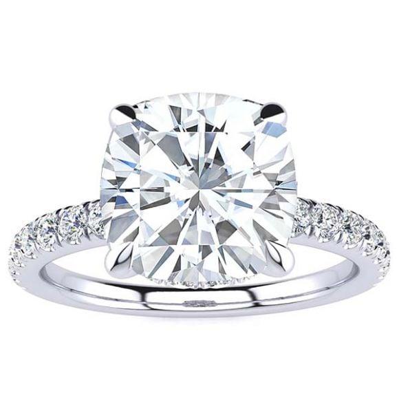 Rebecca Moissanite Ring